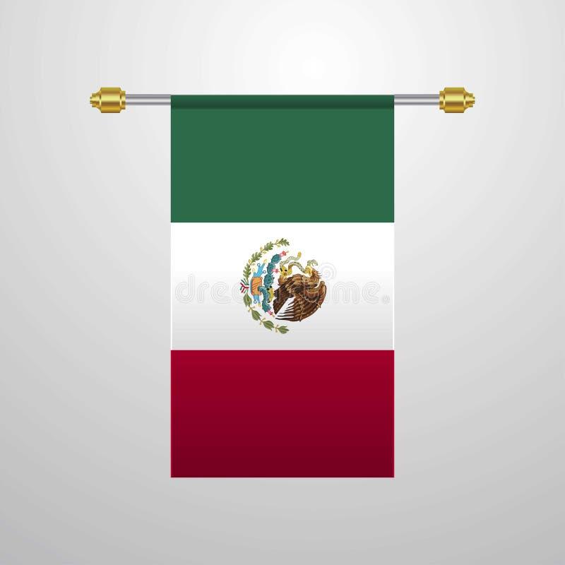 De hangende Vlag van Mexico royalty-vrije illustratie