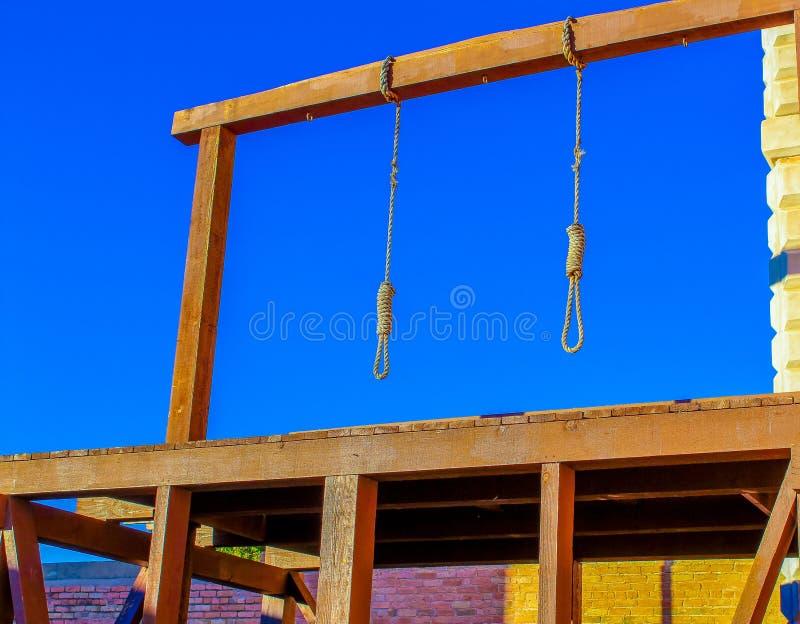 De hanging Gallows in Tombstone Arizona stock fotografie