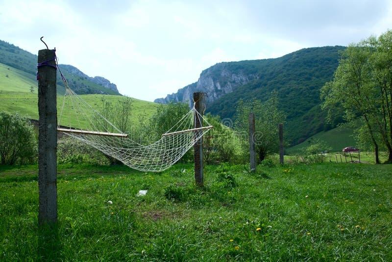 De hangmat van de berg royalty-vrije stock afbeelding