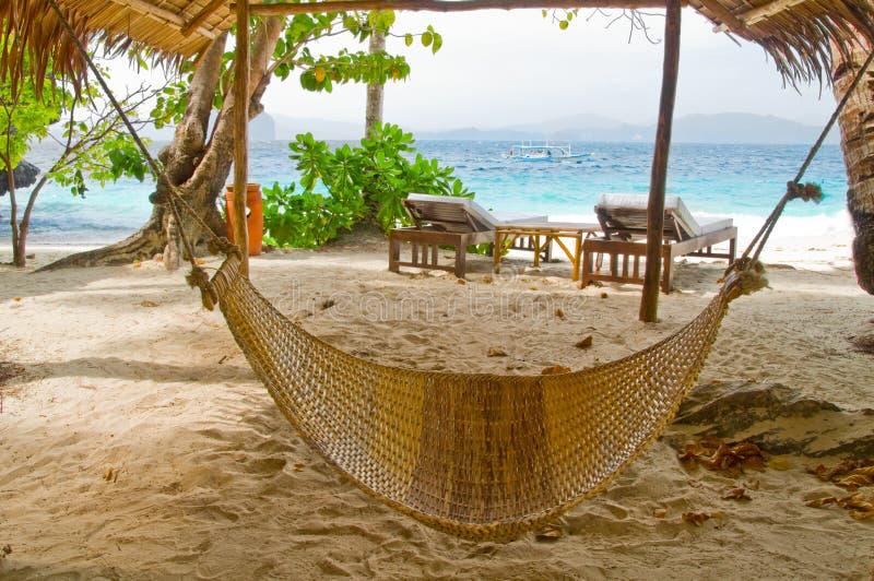 De Hangmat van het strand stock fotografie