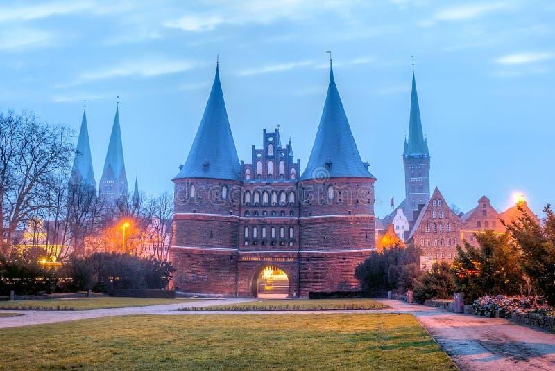 De Hanseatic Stad van Lübeck royalty-vrije stock foto