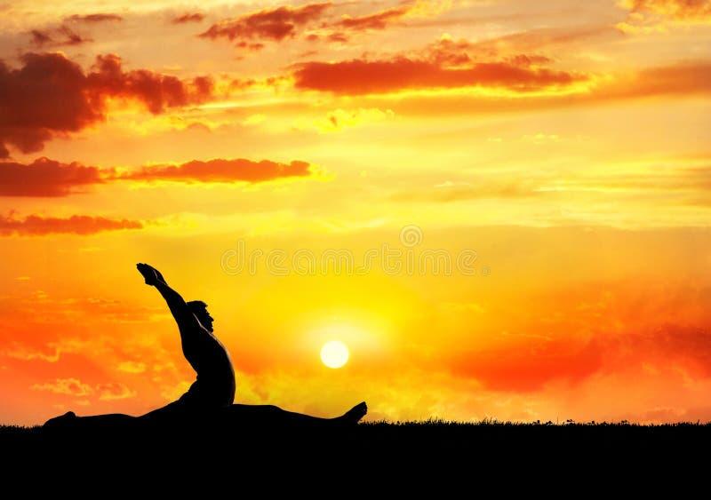 De hanumanasanaaap van de yoga stelt royalty-vrije stock fotografie
