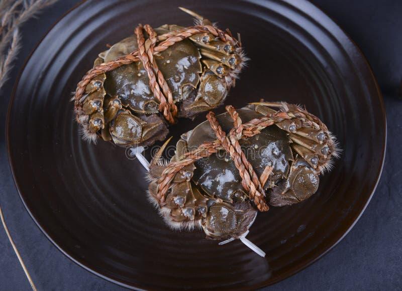 De harige krabben van het Yangchengmeer, suzhoustad royalty-vrije stock foto's