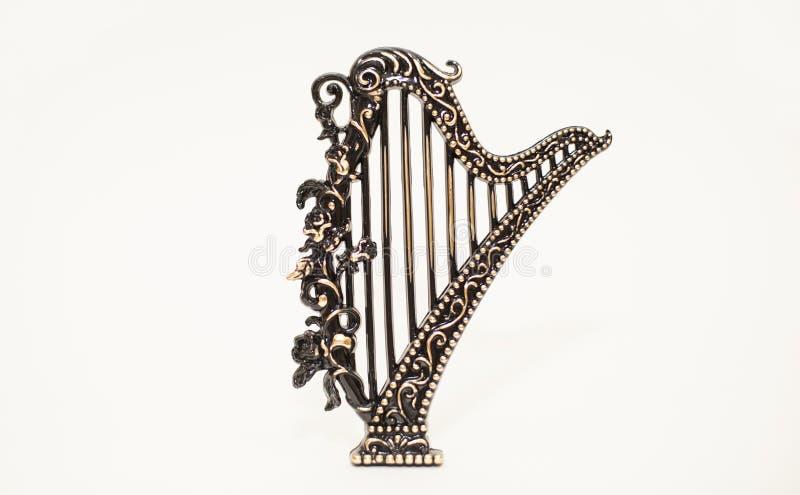 De harp van Kerstmistoy musical instrument stock foto's
