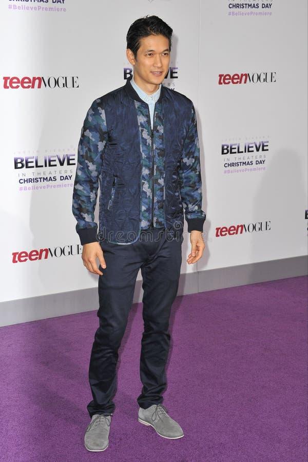 de Harry Shum à la jeune réception de Hollywood de 9ème mode de l'adolescence annuelle aux studios de Paramount, Hollywood photographie stock