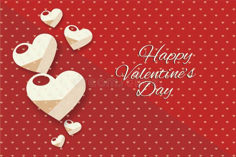 De harten van de achtergrond valentijnskaartendag achtergrond vector illustratie