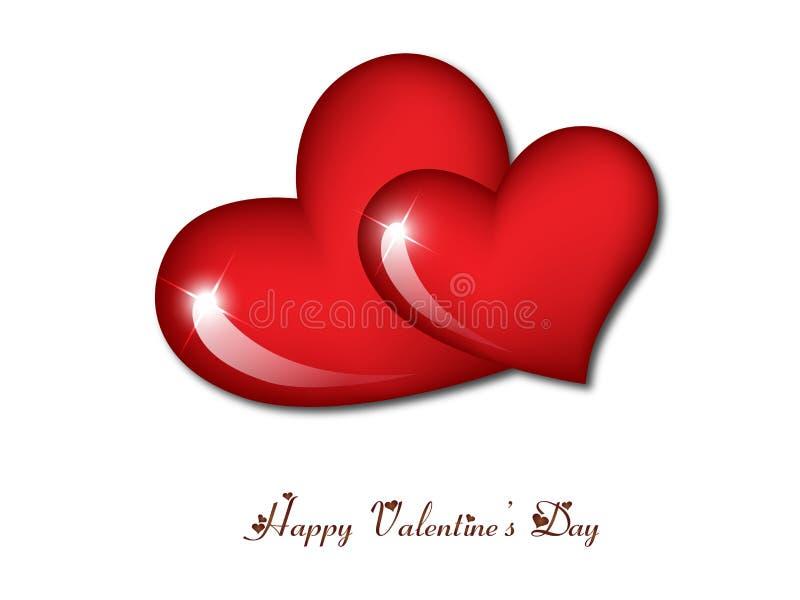 De harten van de Dag van de gelukkige Valentijnskaart royalty-vrije illustratie