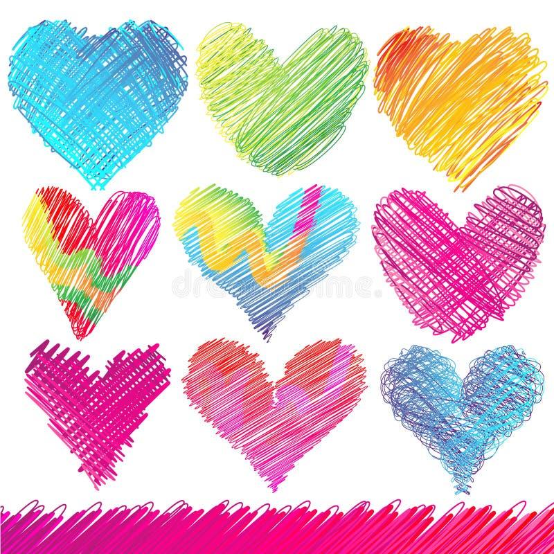 De Harten van de Dag van de valentijnskaart stock illustratie