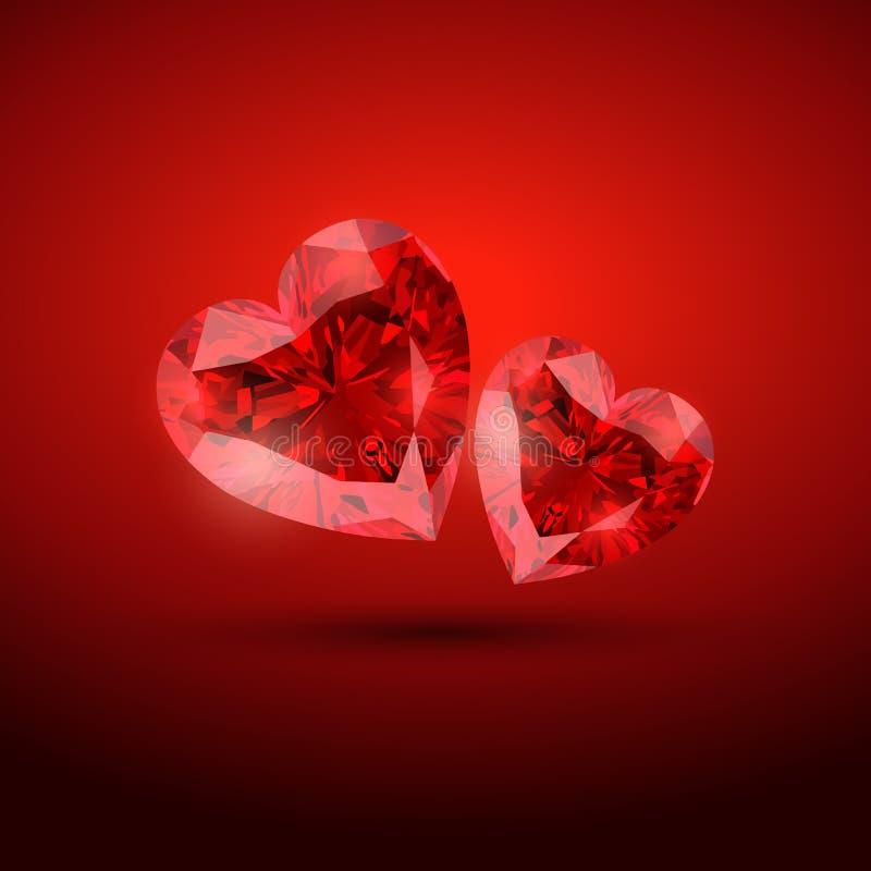 De harten van de diamant royalty-vrije illustratie