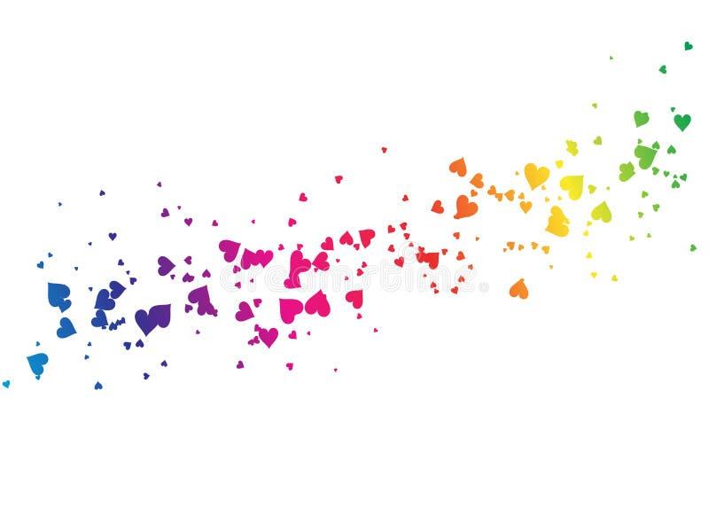 De harten van de regenboog stock illustratie