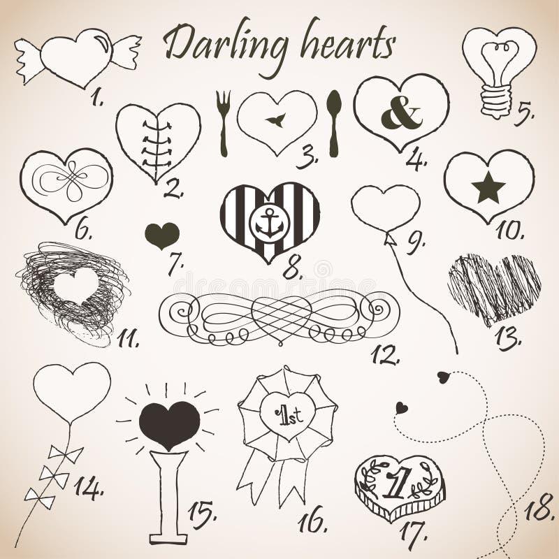 Download De harten van de schat vector illustratie. Illustratie bestaande uit liefde - 29509188