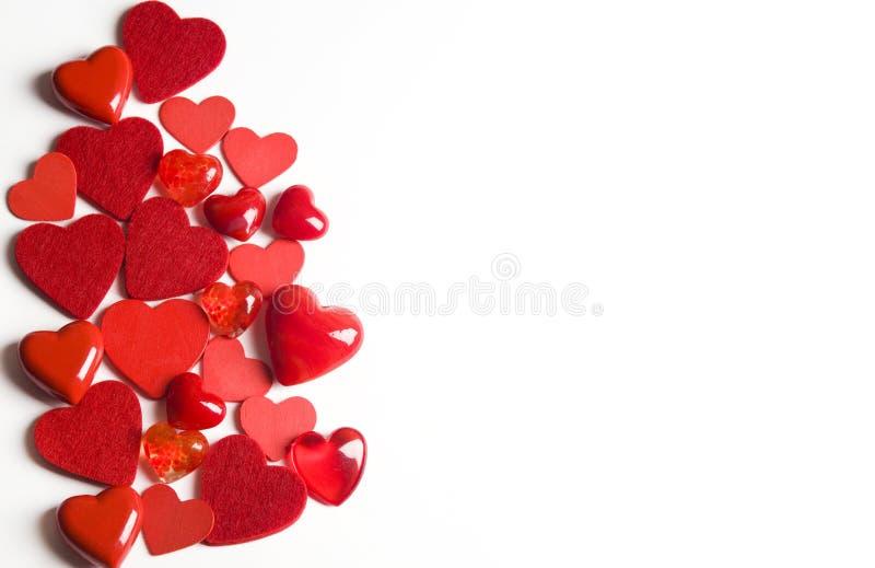 De harten van de valentijnskaart royalty-vrije stock fotografie