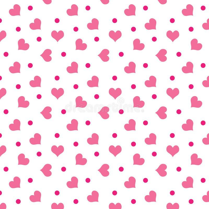 De harten van de valentijnskaart met punten