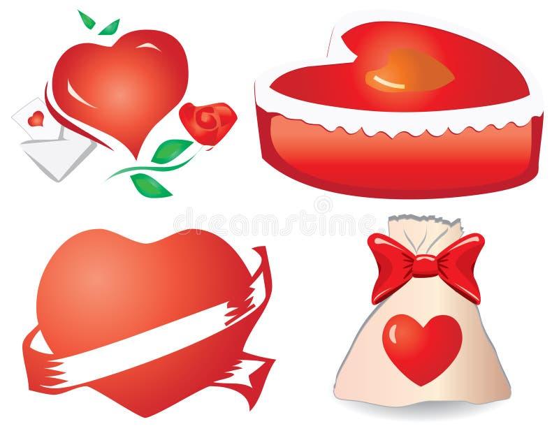 De harten van de valentijnskaart `s, deel 11 vector illustratie