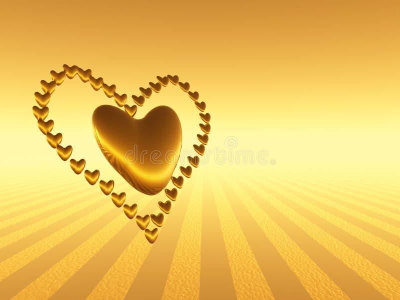 De harten van de valentijnskaart, vakantieliefde. royalty-vrije illustratie