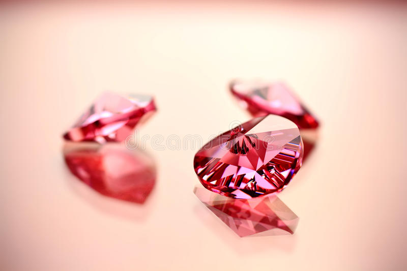 De harten van het kristal. stock afbeelding