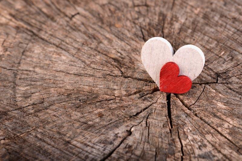 De harten van liefdevalentine ` s stock fotografie