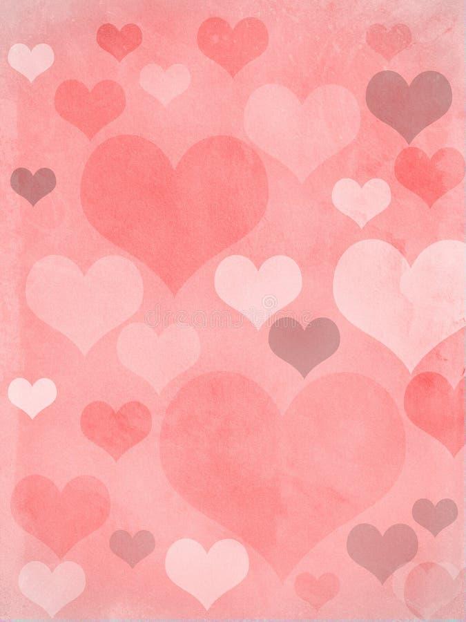 De harten van valentijnskaarten doorboren grungy stock foto's