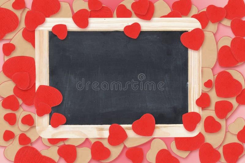 De hartenachtergrond van de valentijnskaart royalty-vrije stock foto's