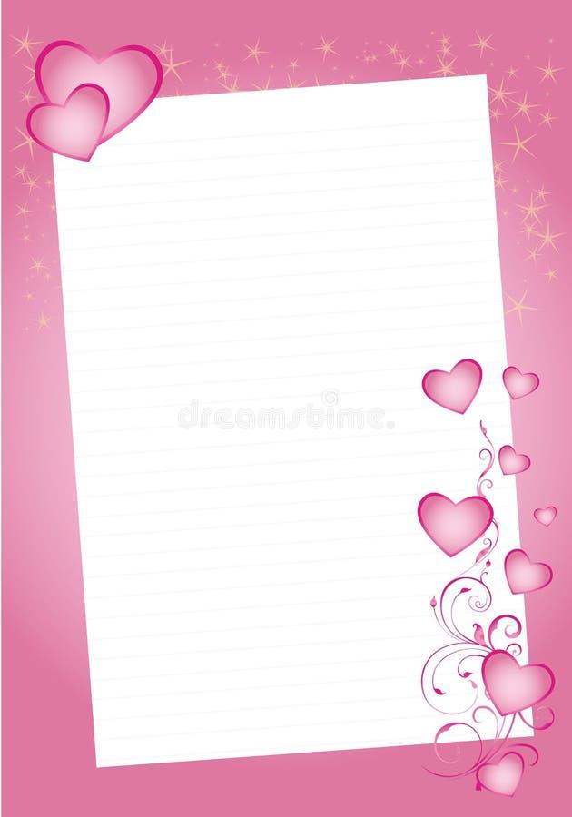 De hartengrens van de valentijnskaart vector illustratie