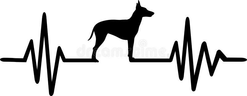 De hartslag van Manchester Terrier vector illustratie