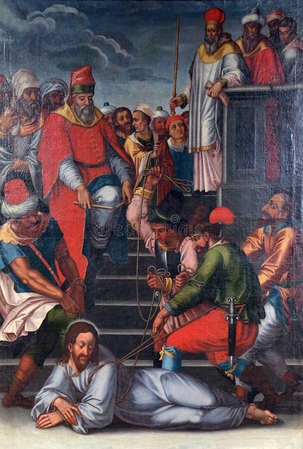 De Hartstocht van Jesus stock afbeeldingen