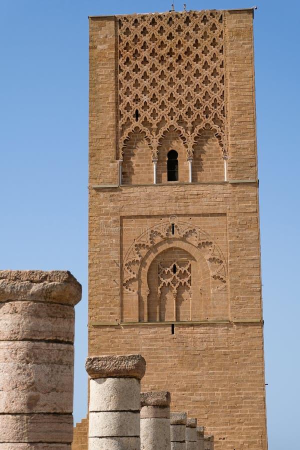 De Hassan Tower in Rabat, Marokko royalty-vrije stock foto's