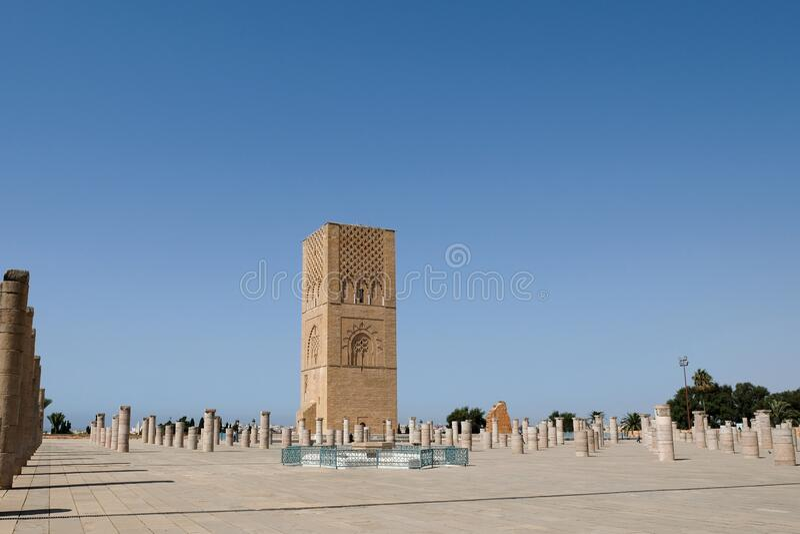 De Hassan Tower in Rabat, Marokko royalty-vrije stock foto