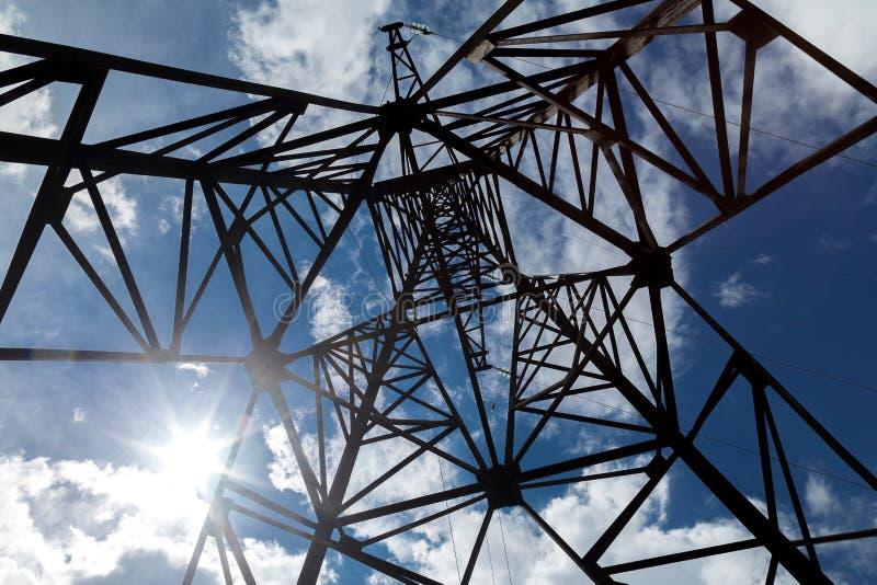 De haute résistance aux réseaux électriques photo stock