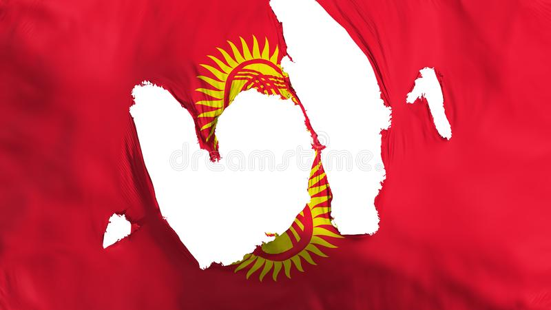 De haveloze vlag van Kyrgyzstan vector illustratie