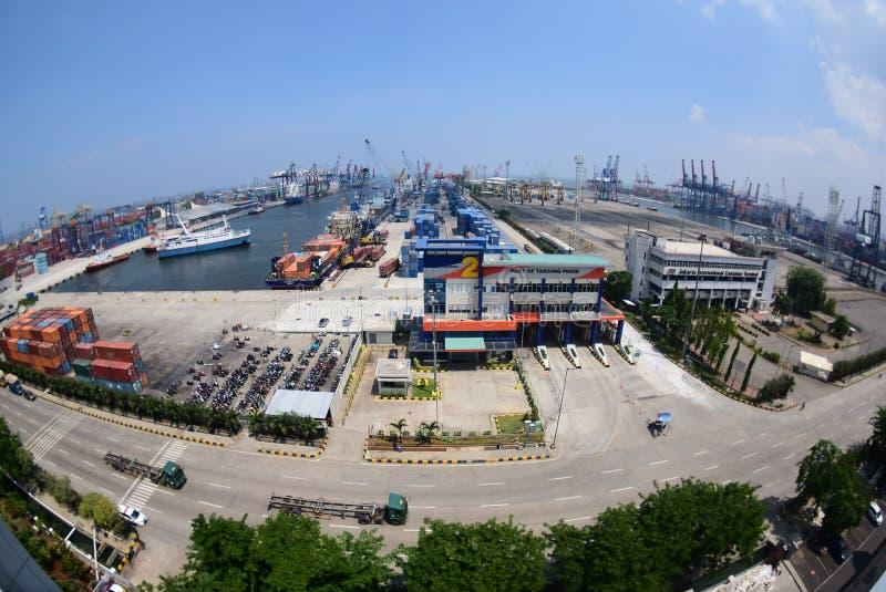De haven Djakarta van Tanjungpriok stock fotografie