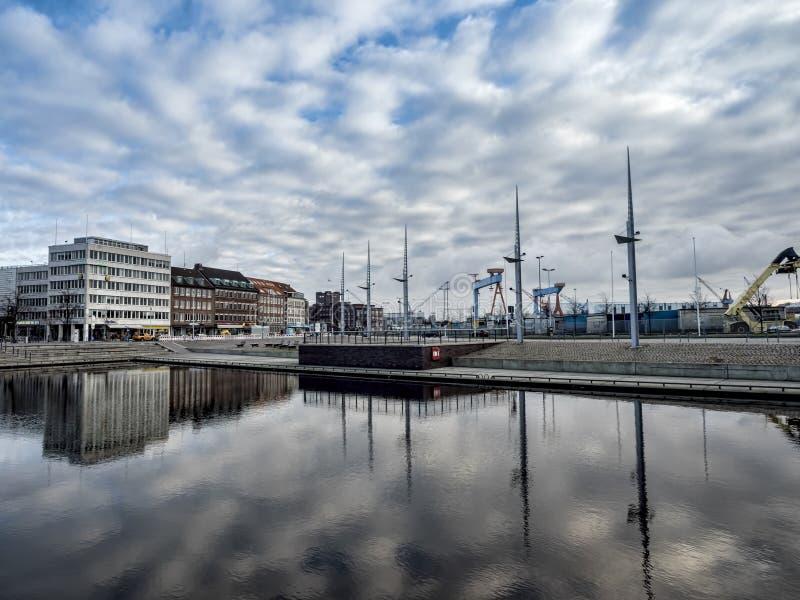 De haven in Kiel, Duitsland royalty-vrije stock afbeeldingen