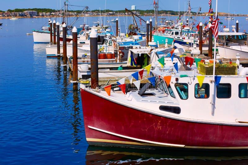De haven Massachusetts de V.S. van Cape Cod Provincetown stock afbeelding