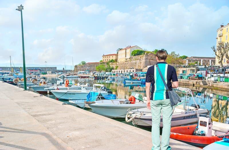 De haven van Ajaccio royalty-vrije stock afbeelding
