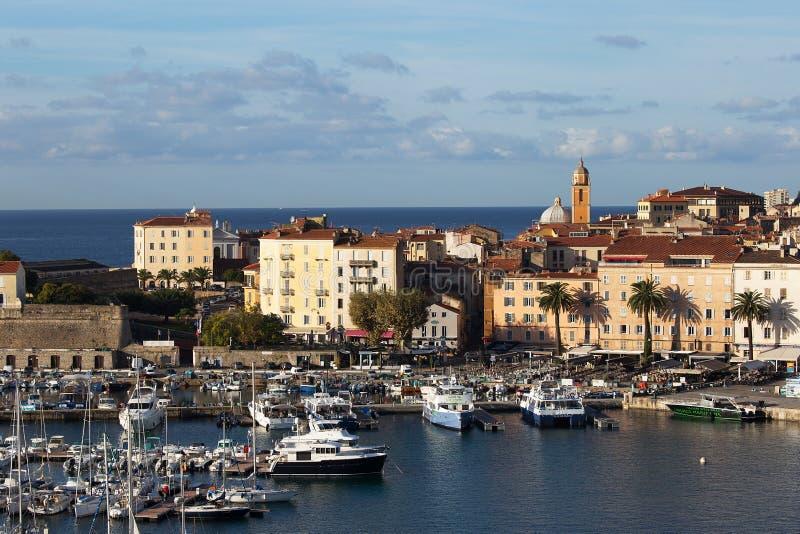 De Haven van Ajaccio, Corsica royalty-vrije stock foto's