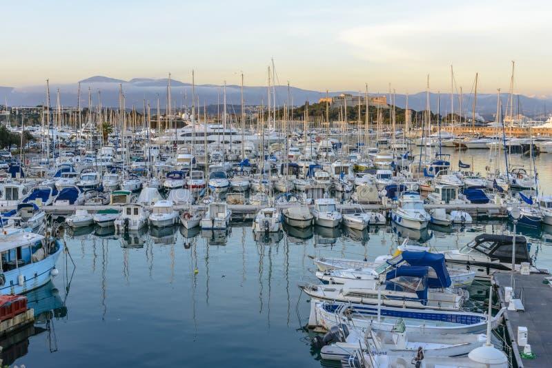 De Haven van Antibes in Zuiden van Frankrijk royalty-vrije stock fotografie