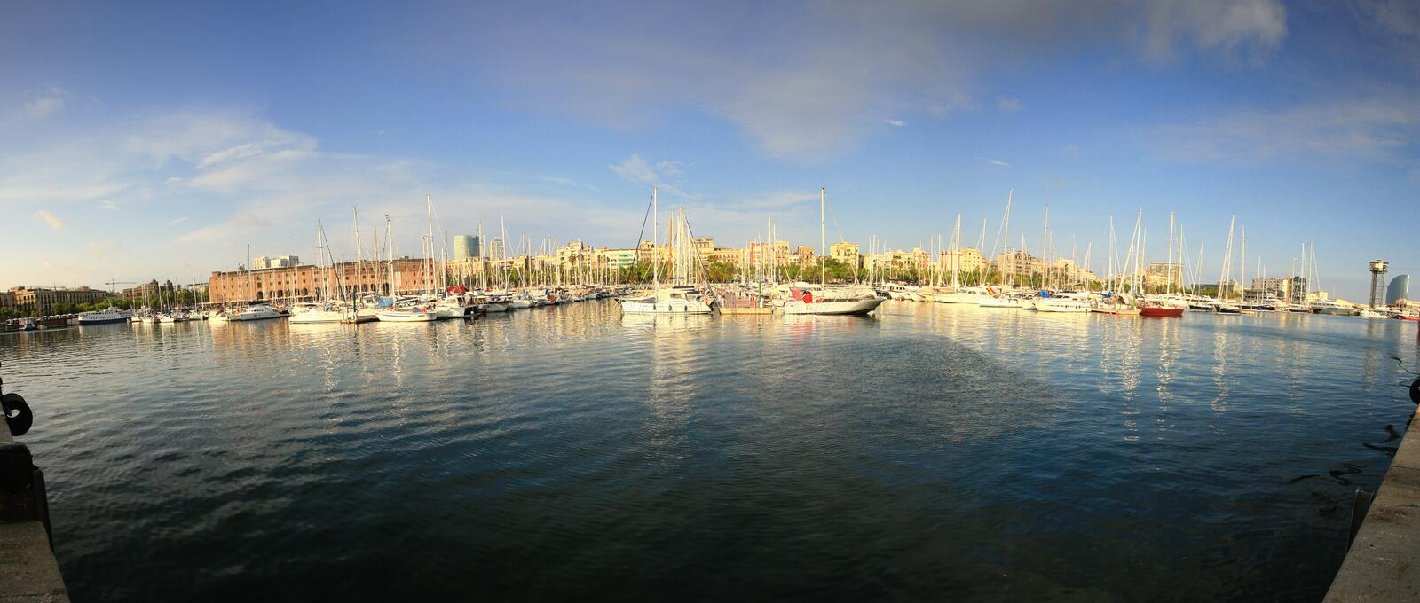 De Haven van Barcelona stock foto
