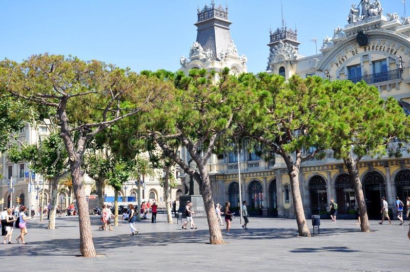 De haven van Barcelona stock afbeeldingen