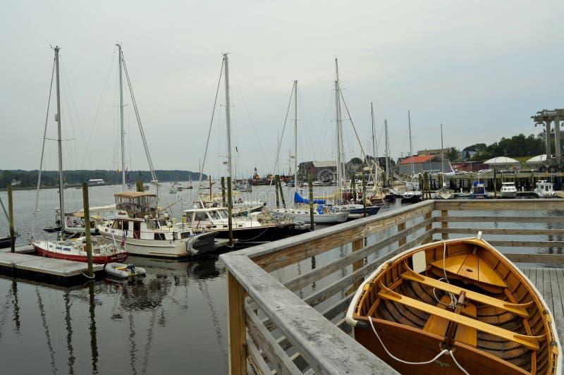 De haven van Belfast, Maine stock foto