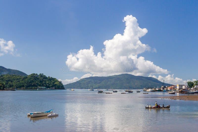 De haven van Bemoeiziek is, Madagascar stock foto's