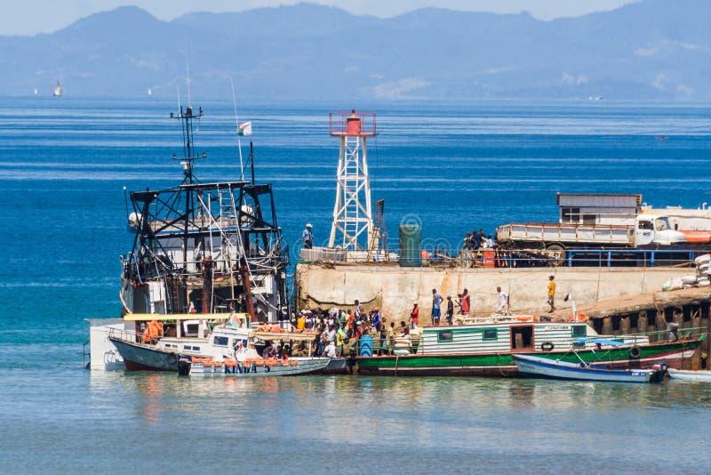 De haven van Bemoeiziek is, Madagascar royalty-vrije stock foto
