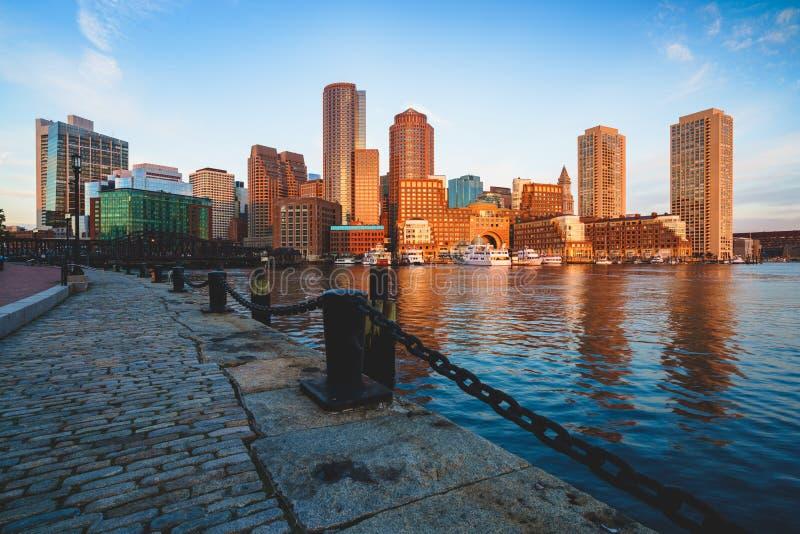 De haven van Boston stock afbeeldingen