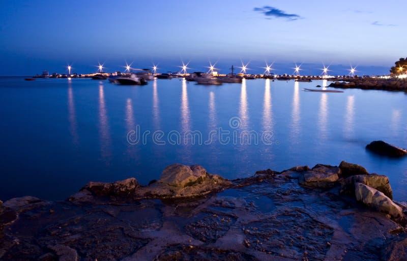 De haven van de avond royalty-vrije stock foto's
