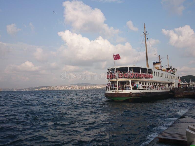 De haven van de Bosphorusveerboot stock foto