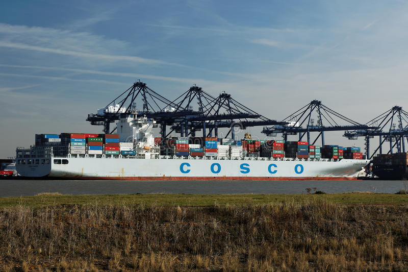 De Haven van de Container van Felixstowe, het UK stock fotografie