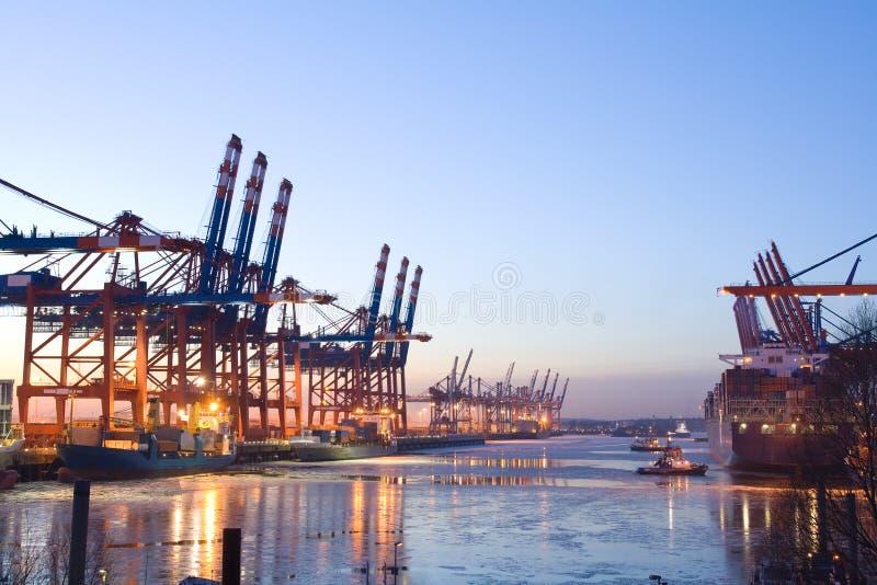 De haven van de lading stock afbeelding
