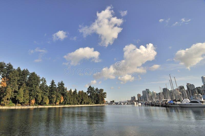 De Haven van de steenkool in de herfst stock foto's