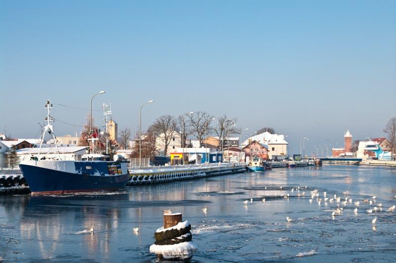 De haven van de winter stock afbeelding