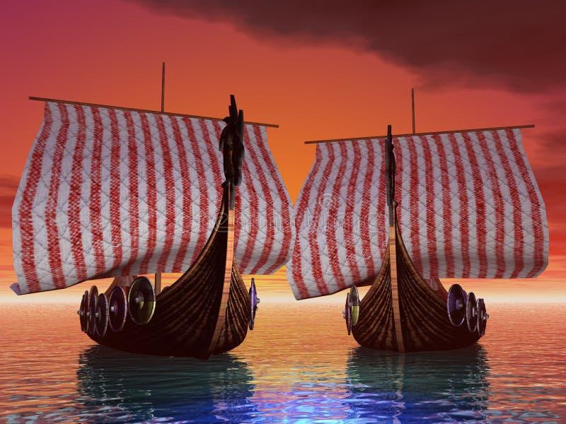 De Haven van de zonsondergang royalty-vrije illustratie
