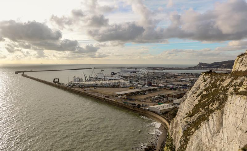 De Haven van Dover in Kent United Kingdom stock afbeeldingen